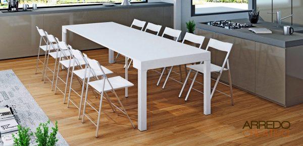 maya 95XL tavolo consolle bianco