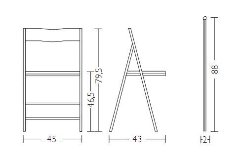 Sedia salvaspazio slim arredo creativo tavoli allungabili for Sedia misure