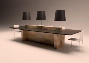 Credenza Con Tavolo Consolle Estraibile : Tavoli moderni e allungabili conforama