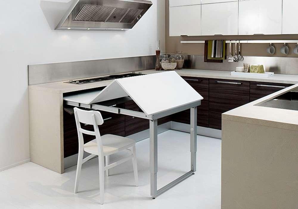 Tavoli estraibili a scomparsa per la cucina; la soluzione ...