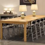 Tavolo consolle Maya Standard aperto, finitura legno Olivo