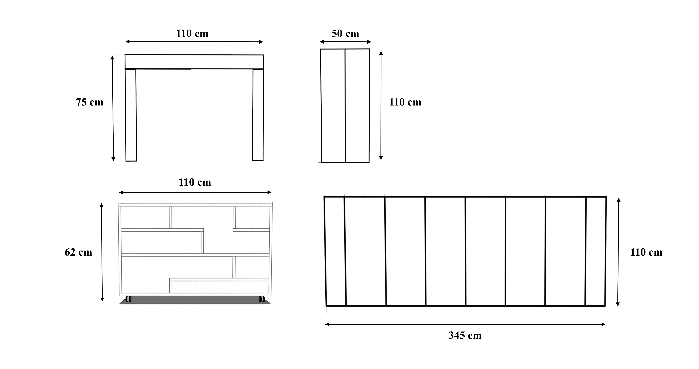 Dimensioni tavolo cucina fabulous cucina componibile for Divano angolare misure minime